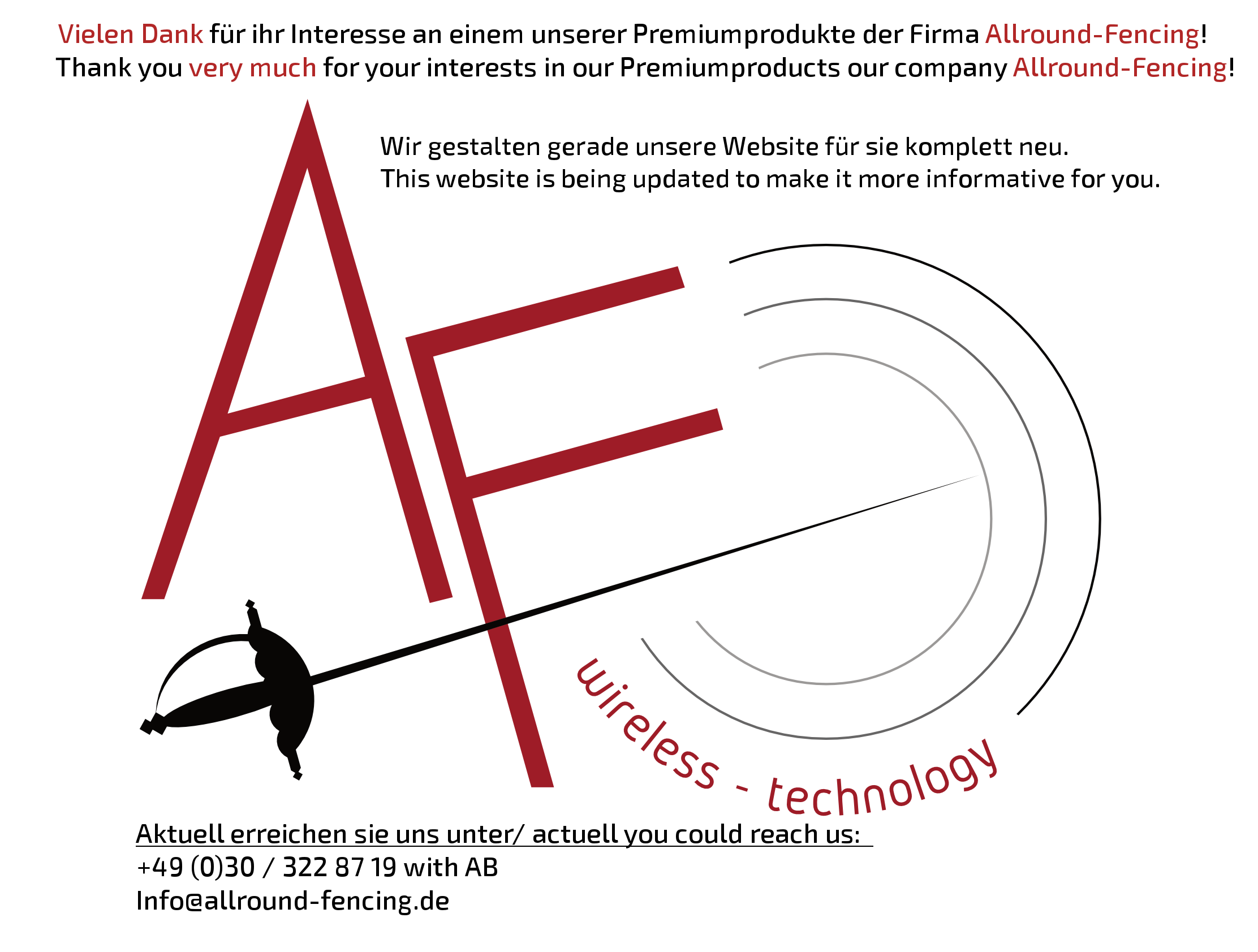 Allround Fencing is coming soon